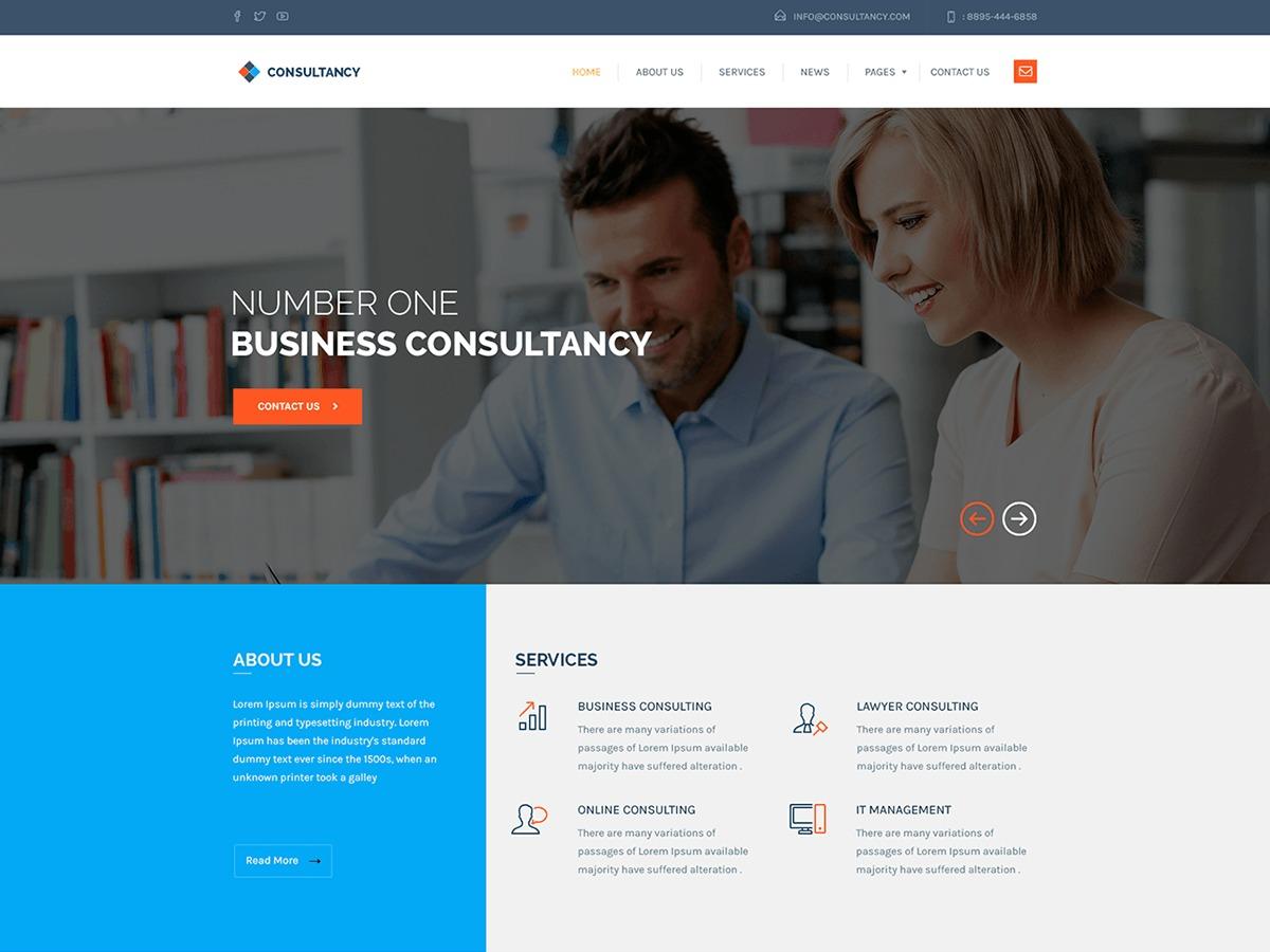 Consultancy best WordPress template
