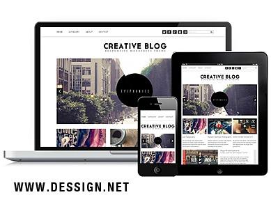 Creative Blog Responsive WordPress Theme WordPress blog template