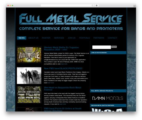 Custom Community best WordPress template - fullmetalservice.com