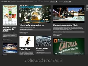 FolioGrid Pro WordPress portfolio template