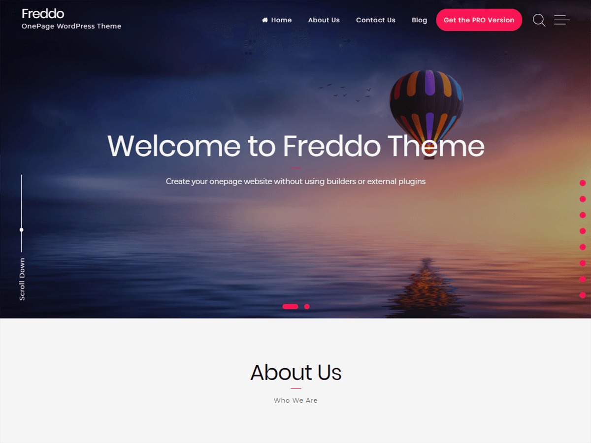 Freddo WordPress theme
