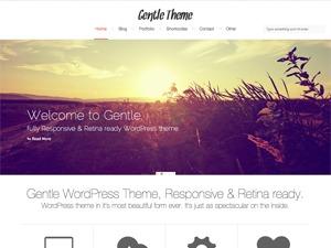 Gentle personal WordPress theme