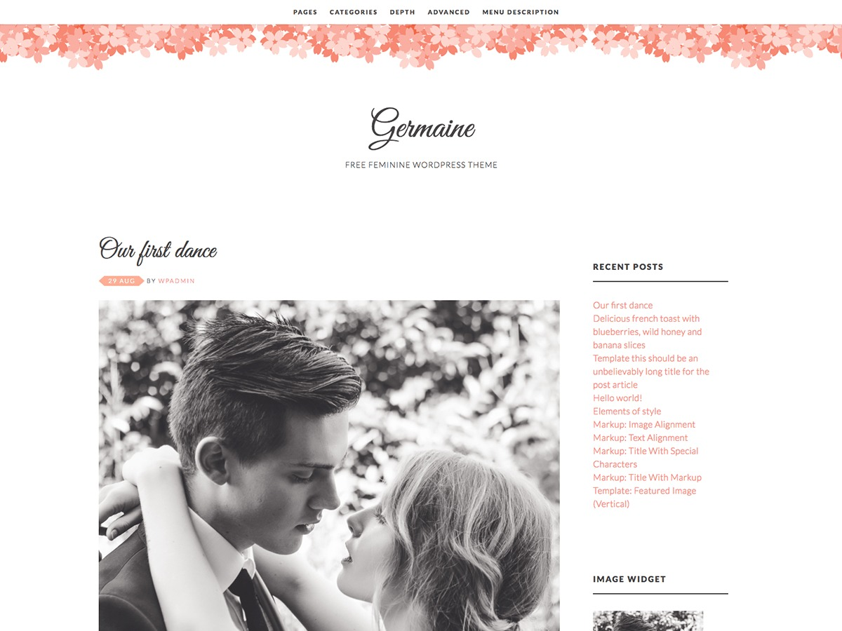 Germaine free WordPress theme