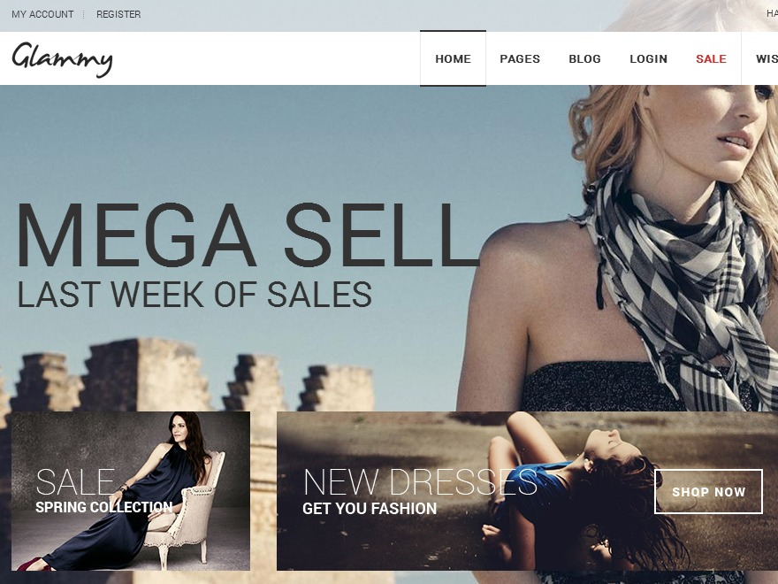 Glammy WordPress blog template