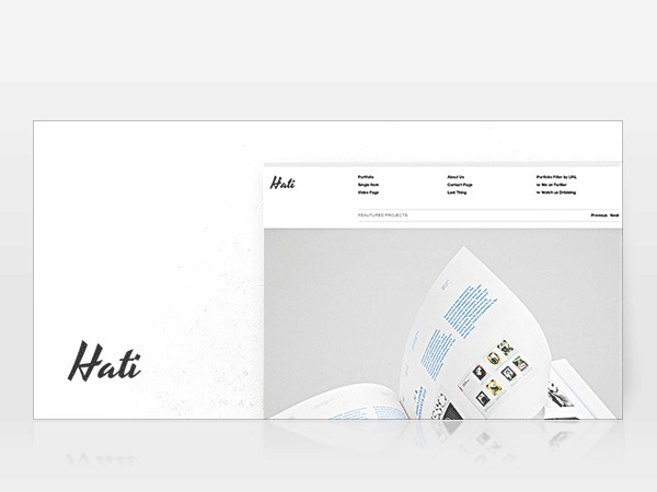 Hati WordPress page template