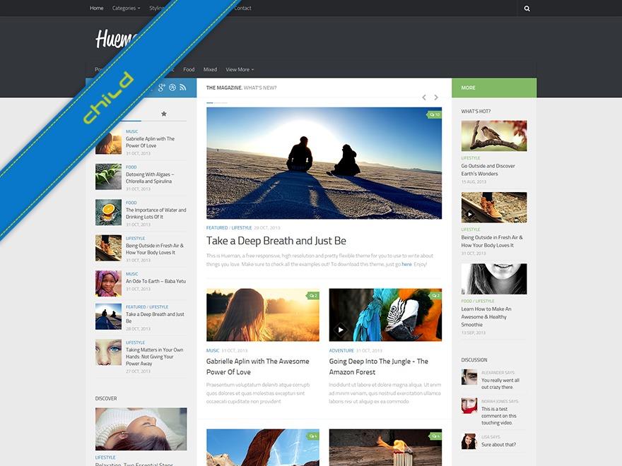 Hueman-child WordPress website template