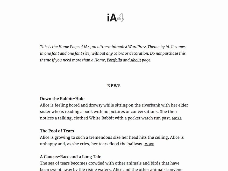 iA4 theme WordPress