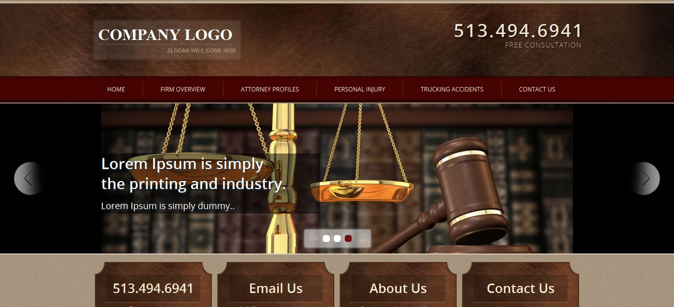 Leather Law Dawgz 2.5 WordPress website template