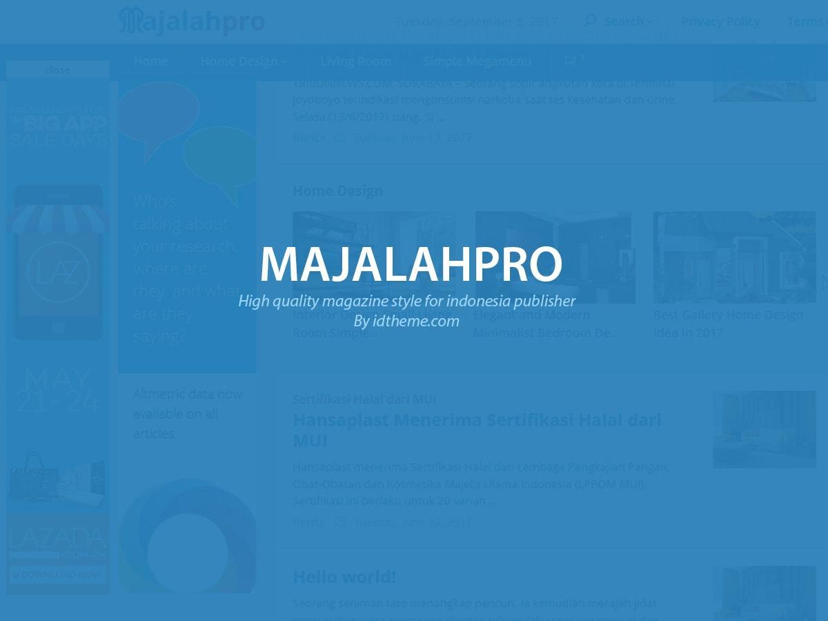 Majalahpro WordPress news theme