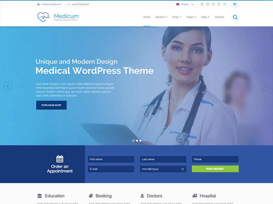 Medicum medical WordPress theme