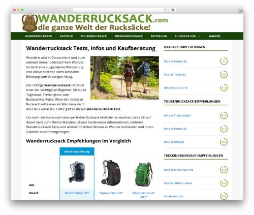 MH Magazine WordPress news theme - wanderrucksack.com