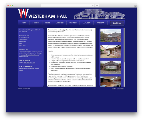 Modular top WordPress theme - westerham-hall.org