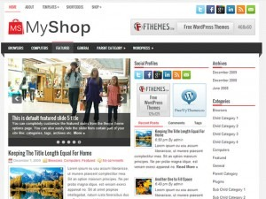 MyShop WordPress ecommerce theme