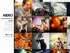 Nero WordPress template for photographers
