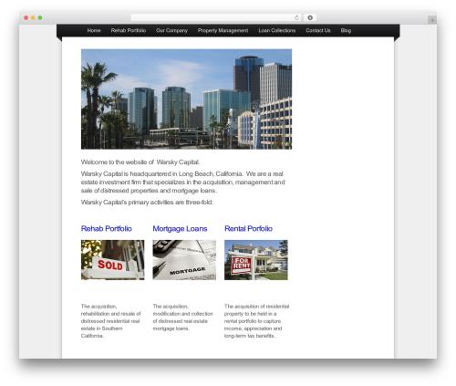 OptimizePress company WordPress theme - warskycapital.com