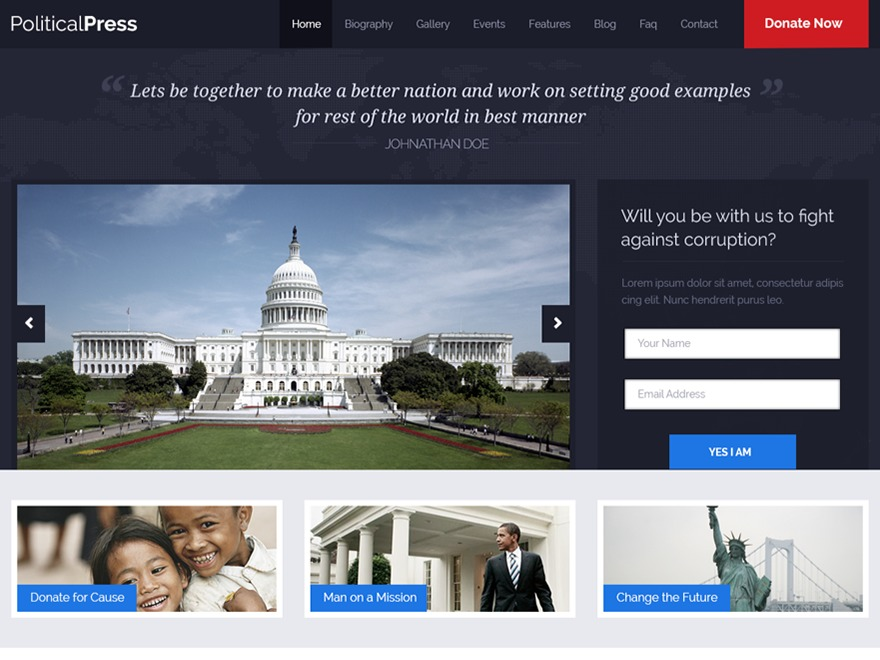 PoliticalPress Theme premium WordPress theme