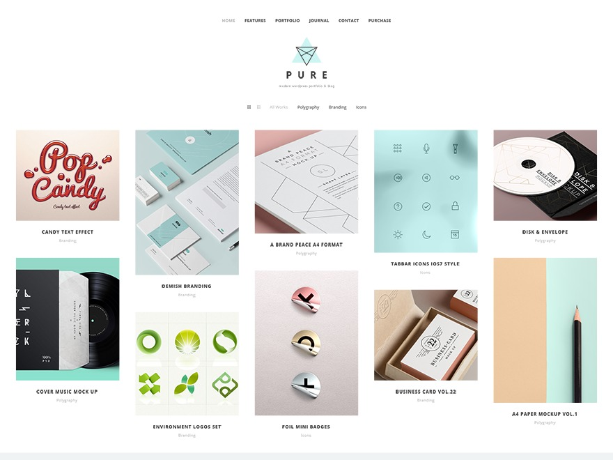 Pure - Multipurpose Responsive WordPress Theme WordPress blog template