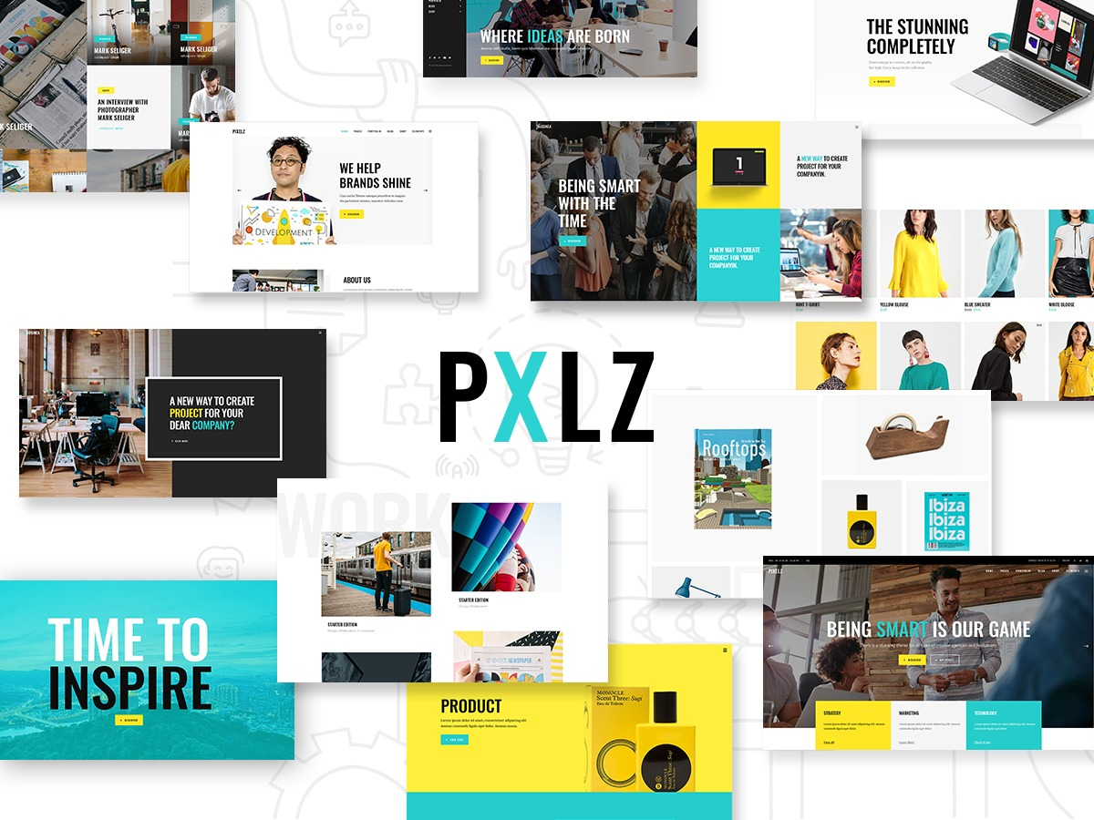 Pxlz theme WordPress