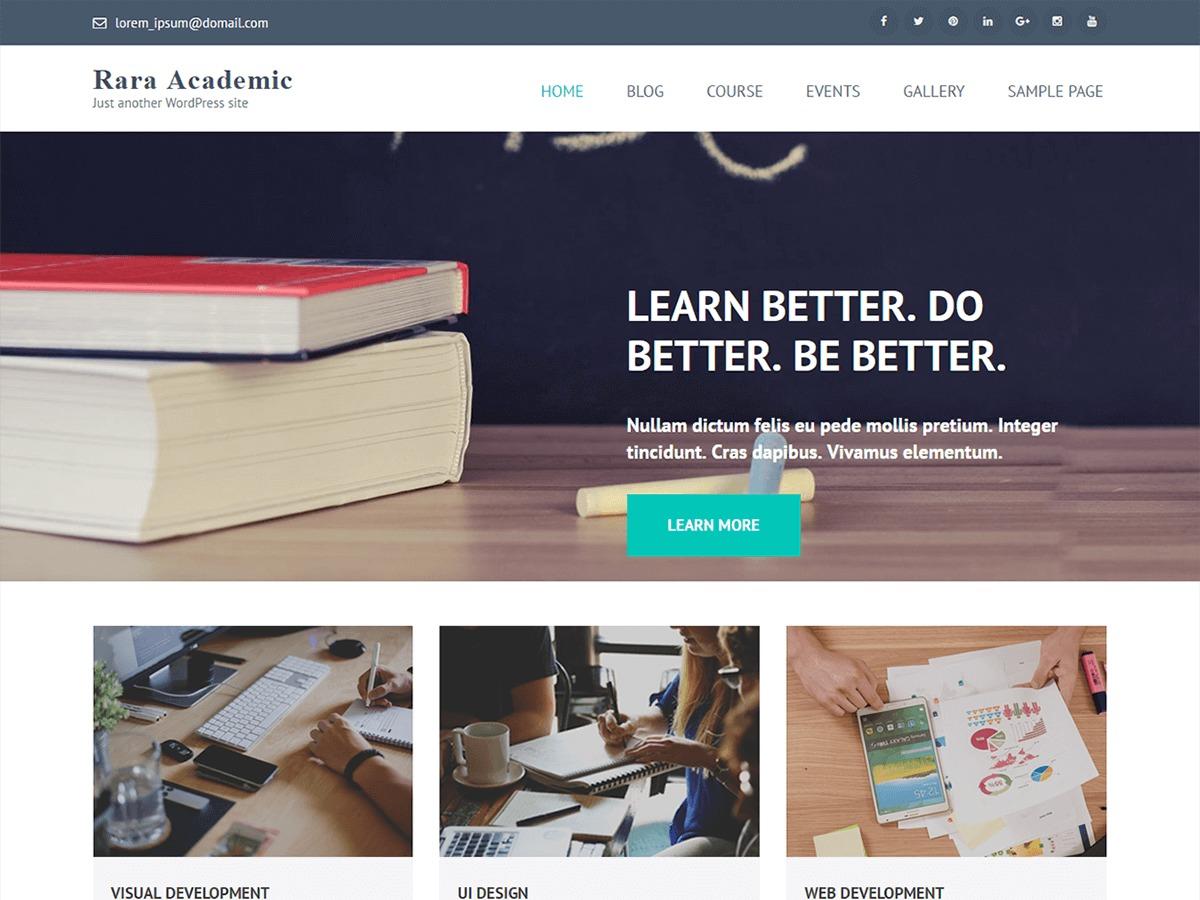 Rara Academic Pro WordPress website template