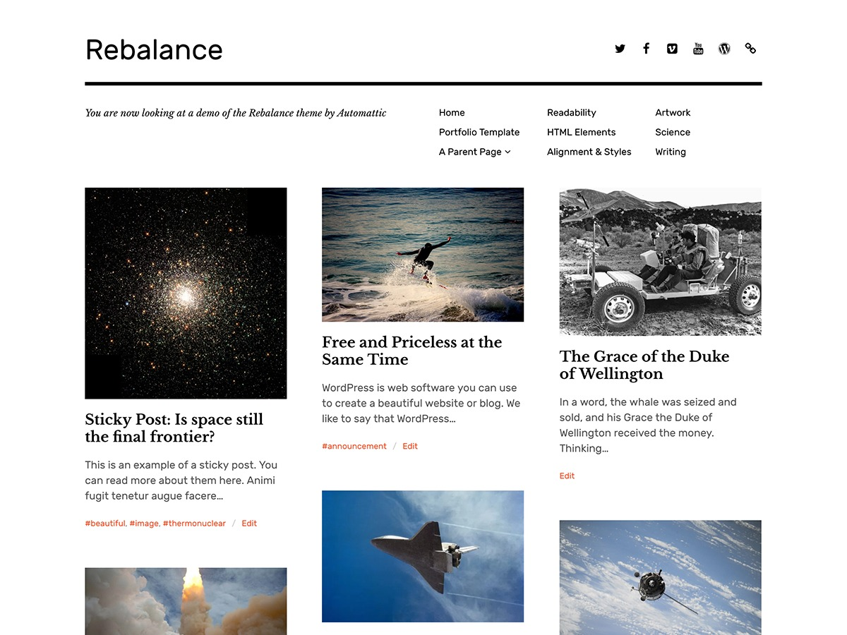 Rebalance Personal Blog Wordpress Theme By Automattic Page 2