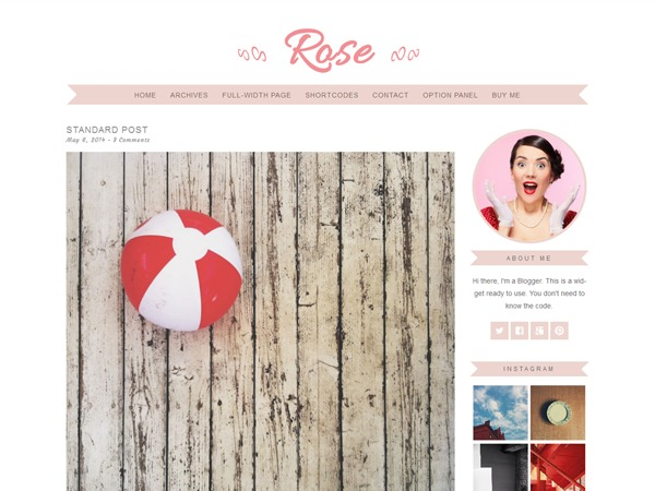 Rose WordPress portfolio theme