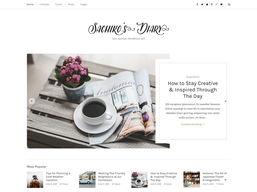 Sachiko WordPress blog theme