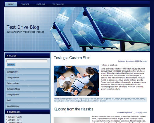 solar_panels WordPress page template