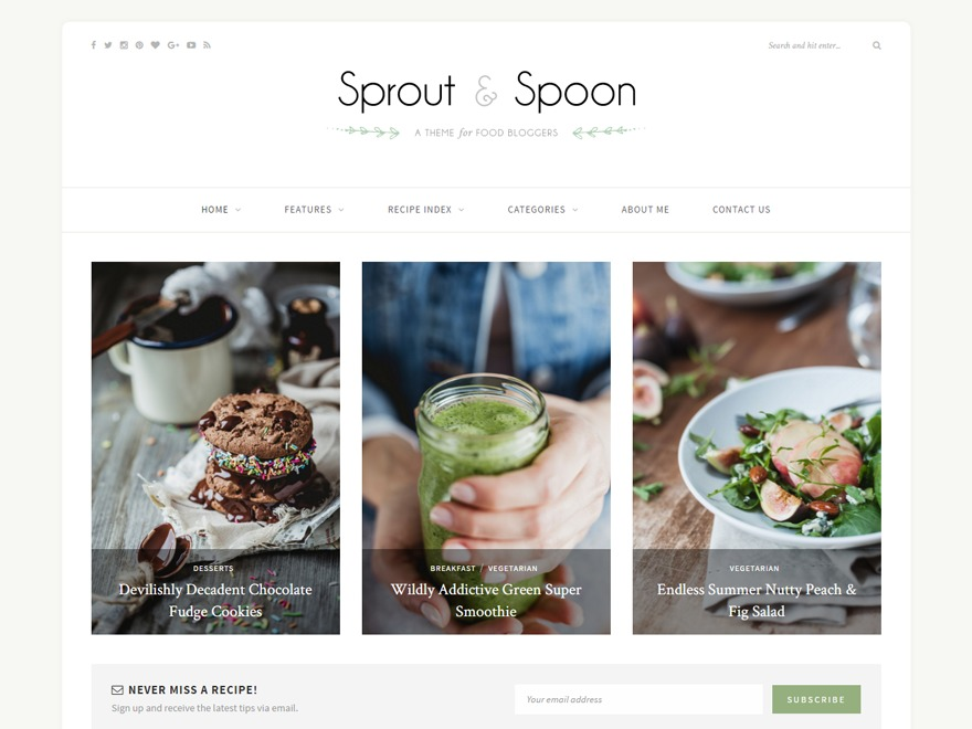 Sprout & Spoon food WordPress theme