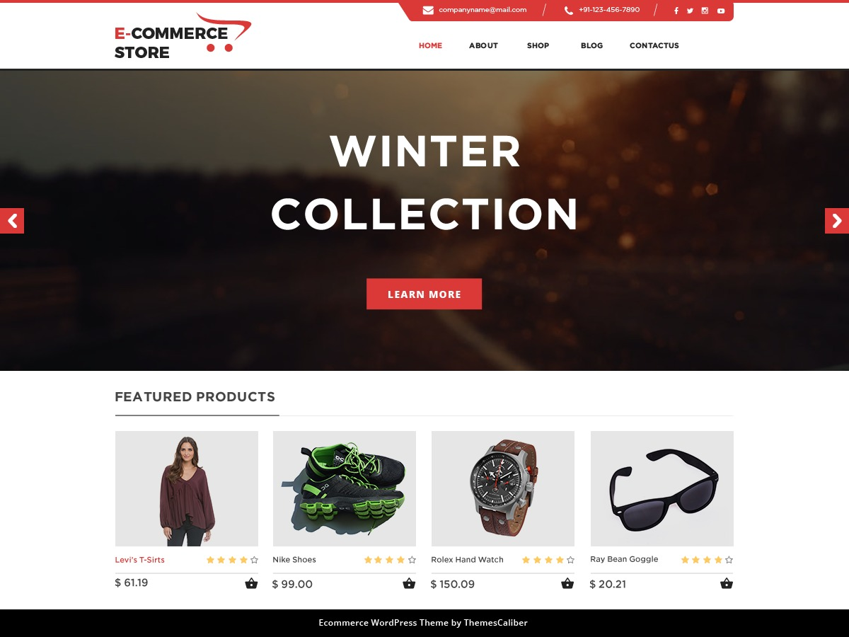 TC E-Commerce Shop WordPress shopping theme