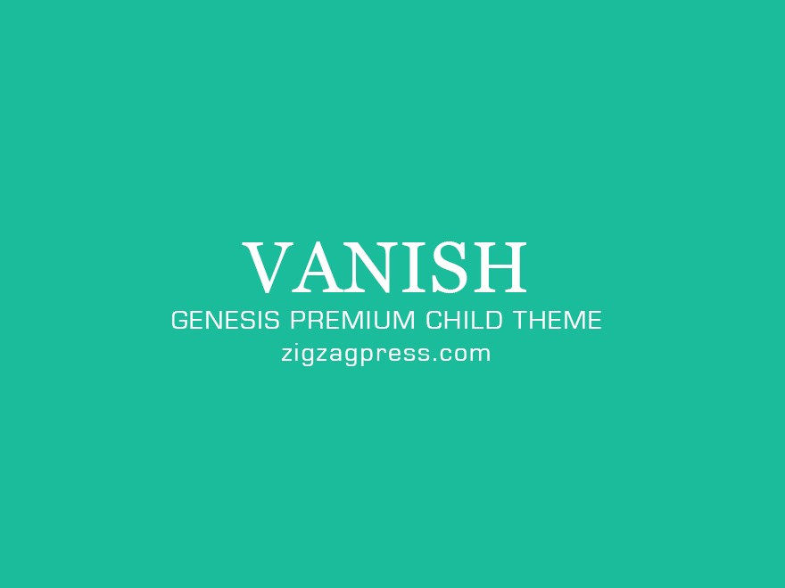 Template WordPress Vanish