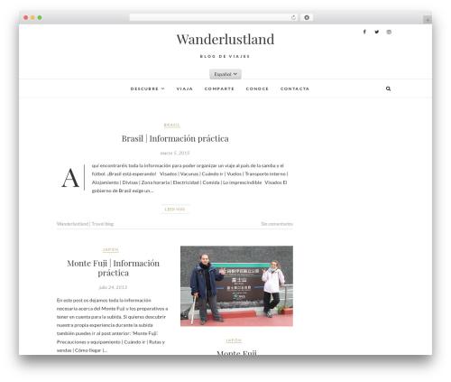 Theme WordPress Edge - wanderlustland.com/es