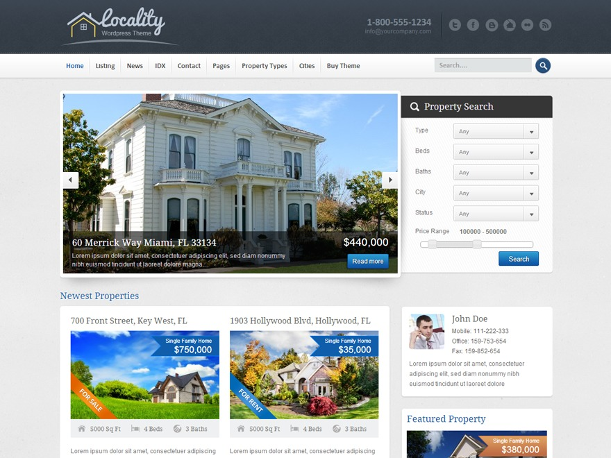 Theme WordPress Locality Child Theme