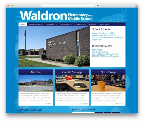 Theme WordPress Organic-NonProfit - waldronschool.net