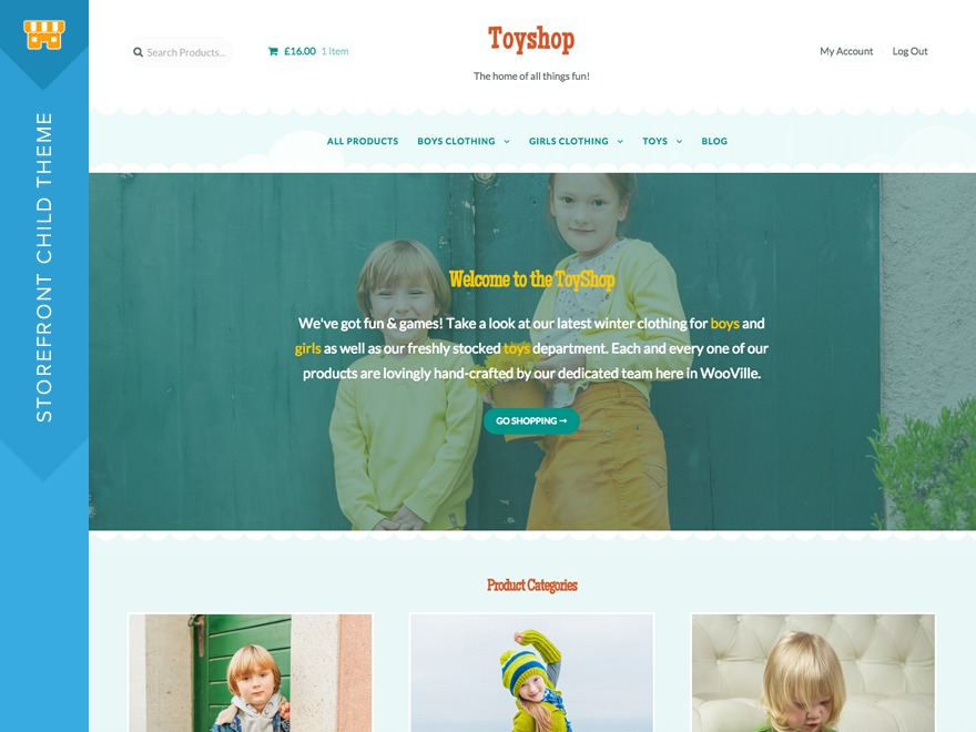 Toyshop WordPress store theme