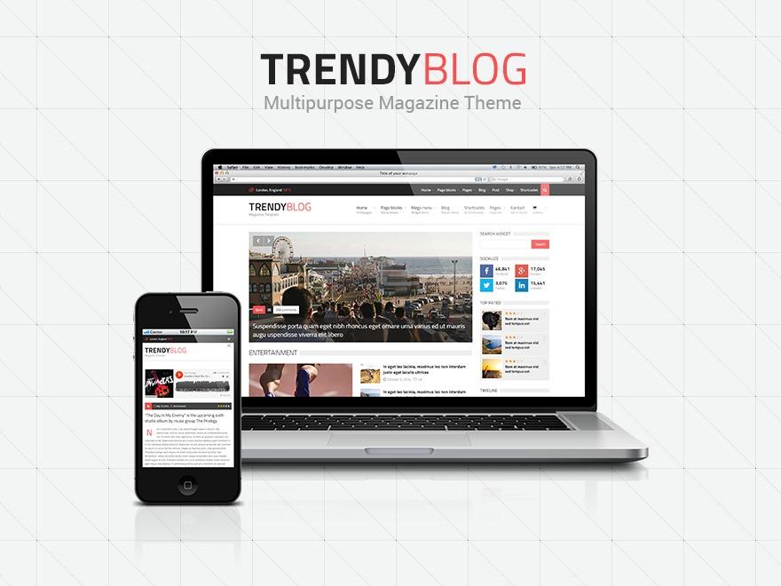 TrendyBlog Premium Theme WordPress blog theme