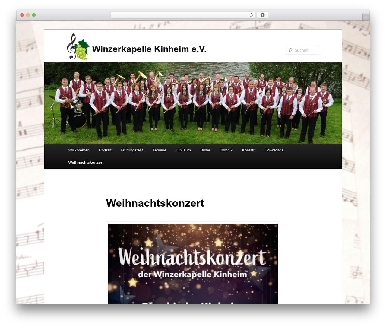 Twenty Eleven best free WordPress theme - winzerkapelle-kinheim.de