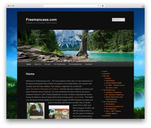 Twenty Eleven free WordPress theme - freemancase.com