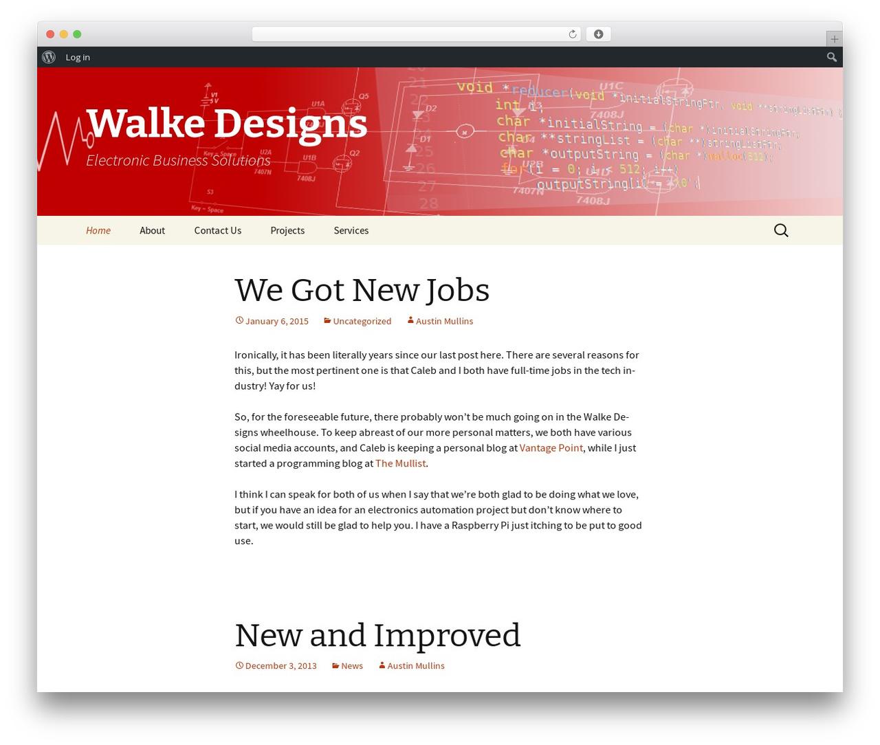 Twenty Thirteen WordPress theme - walkedesigns.us