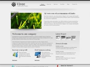 Vivee3 company WordPress theme