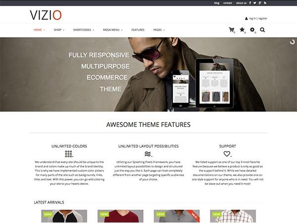 Vizio WordPress shop theme