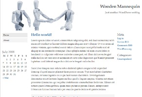 Wooden Mannequin WordPress theme