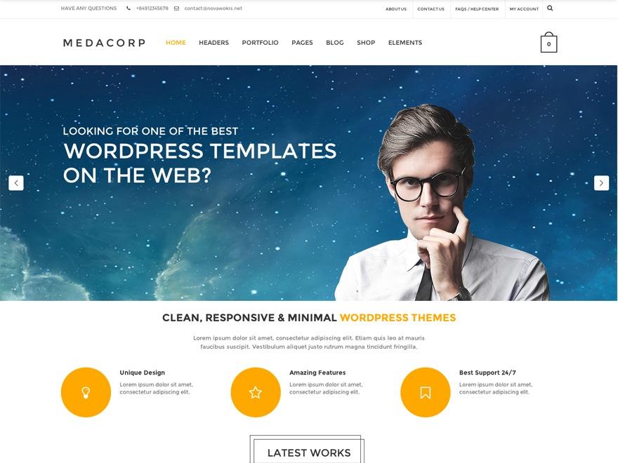 WordPress template MedaCorp