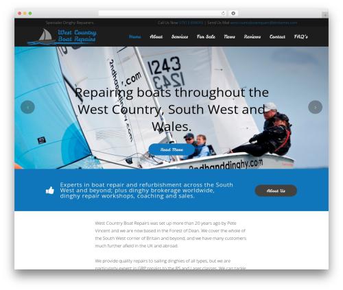 WordPress theme Bridge - westcountryboatrepairs.co.uk