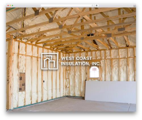 WordPress theme BuilderPress - westcoastinsulation.com