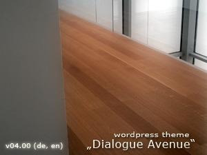 WordPress theme Dialogue Avenue (Widget-ready)