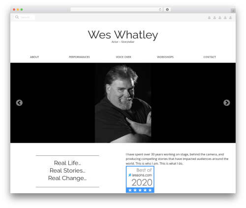 WordPress theme Matheson Pro - weswhatley.com