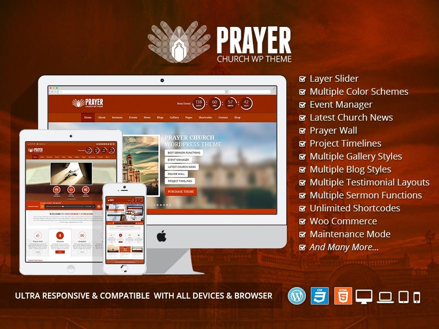 WordPress theme Prayer Church WordPress Theme