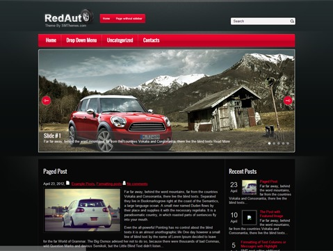 WordPress theme RedAuto