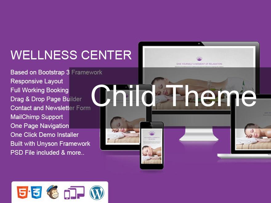 WordPress theme WellnessCenter