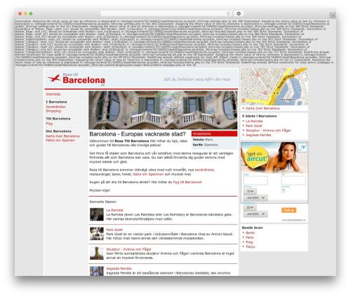 Barcelona template WordPress - resatillbarcelona.se